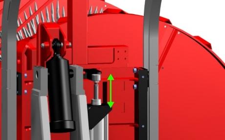 Druckentlastung Igel KE 3000 hydro S Kürbiskern-Erntemaschine