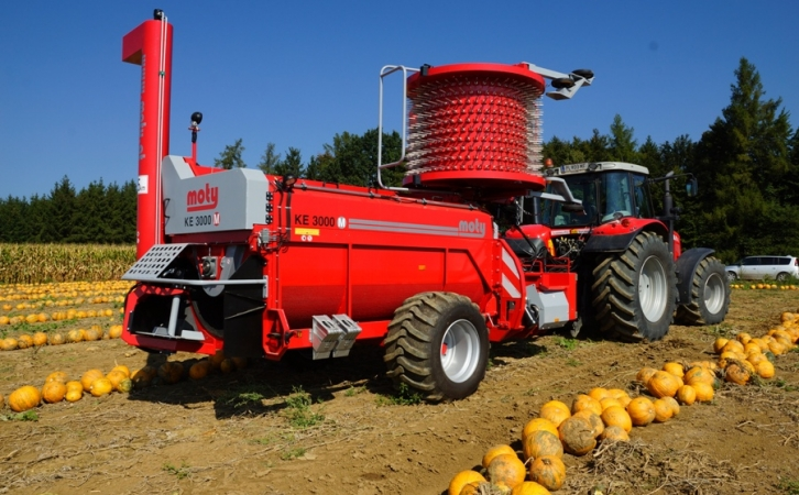 KE 3000 mechanic pumpkin seed harvester