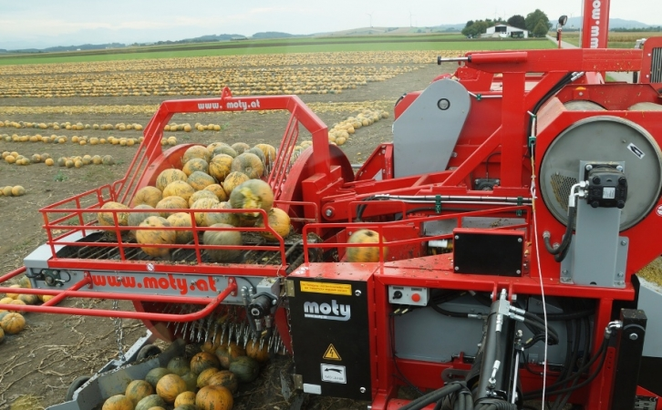 Pumpkin seed harvester KE 3000 mechanic